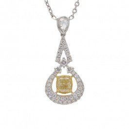 Ladies' Diamond Fashion Necklace 1.17tw  18K White/ Yellow Gold