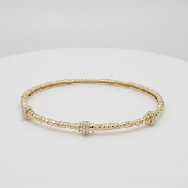 Ladies' Diamond Bangle 0.26tw  14K Yellow Gold