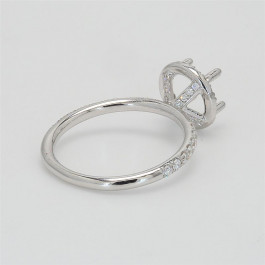 Delicate Collection, Ladies' Engagement Ring Setting 0.56tw  18K White Gold