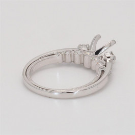 Oliva Collection, Ladies' Engagement Ring Setting 0.50tw  14K White Gold