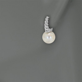Ladies' Pearl Earrings Sterling Silver