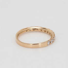Ladies' Diamond Half-Way Band 0.33tw  18K Rose Gold