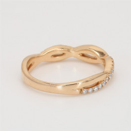 Ladies' Diamond Three-Quarter Way Band 0.22tw  18K Rose Gold