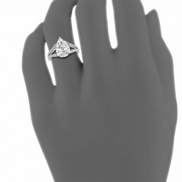 Ladies' Engagement Ring Setting 0.51tw  18K White Gold