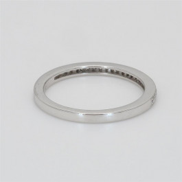 Ladies' Diamond Half-Way Band 0.12tw  18K White Gold