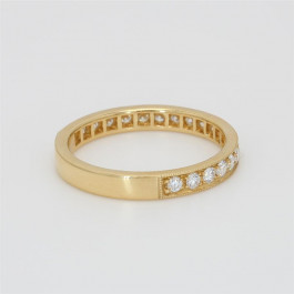 Ladies' Diamond Three-Quarter Way Band 0.50tw  18K Yellow Gold