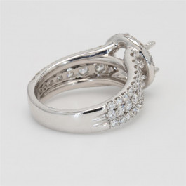 Ladies' Engagement Ring Setting 1.87tw  18K White Gold