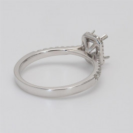 Ladies' Engagement Ring Setting 0.24tw  18K White Gold