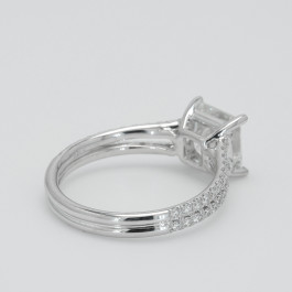 Princess Cut Split Shank Pave Engagement Ring