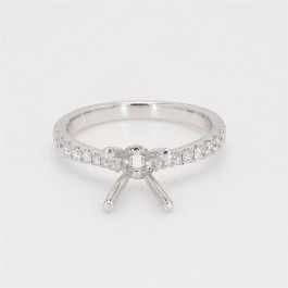 Ladies' Engagement Ring Setting 0.28tw  18K White Gold