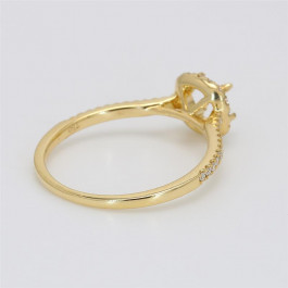 Ladies' Engagement Ring Setting 0.22tw  18K Yellow Gold