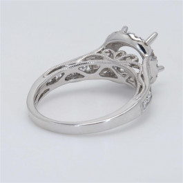 Ladies' Engagement Ring Setting 0.88tw  18K White Gold
