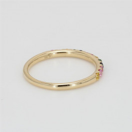 Ladies' Gemstone Half-Way Band 0.34tw  14K Yellow Gold