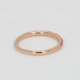 Ladies' Gemstone Half-Way Band 0.33tw  14K Rose Gold