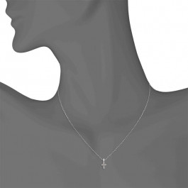 Ladies' Cross Pendant 0.50tw  14K White Gold