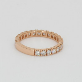 Ladies' Diamond Three-Quarter Way Band 0.82tw  18K Rose Gold