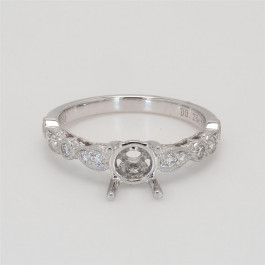 Ladies' Engagement Ring Setting 0.25tw  18K White Gold
