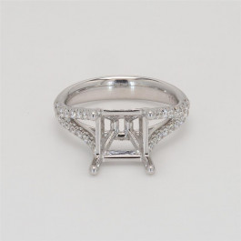 Ladies' Engagement Ring Setting 0.43tw  18K White Gold