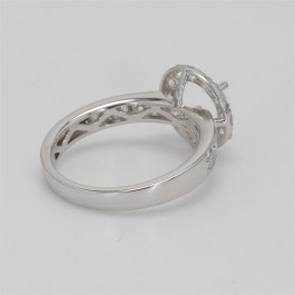 Ladies' Engagement Ring Setting 0.96tw  18K White Gold