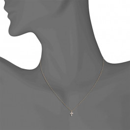 Ladies' Cross Pendant 0.20tw  18K Rose Gold