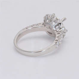 Ladies' Engagement Ring Setting 0.85tw  18K White Gold