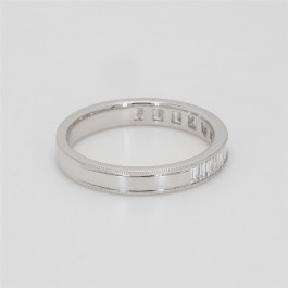 Ladies' Diamond Half-Way Band 0.55tw  18K White Gold