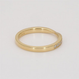 Ladies' Diamond Half-Way Band 0.17tw  18K Yellow Gold