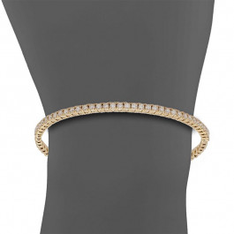 Bead It, Ladies' Diamond Bangle 1.05tw  18K Yellow Gold