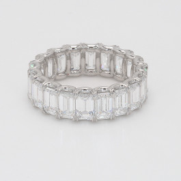 7.84CT Emerald Cut Platinum 7.6Grams Eternity Band