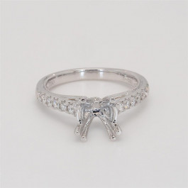 Ladies' Engagement Ring Setting 0.30tw  18K White Gold