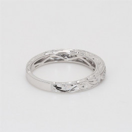 Ladies' Diamond Half-Way Band 0.18tw  18K White Gold