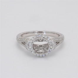 Oliva Collection, Ladies' Engagement Ring Setting 0.42tw  14K White Gold