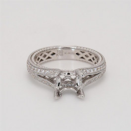 Ladies' Engagement Ring Setting 0.35tw  18K White Gold