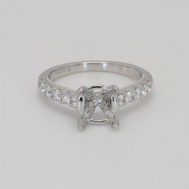 Ladies' Engagement Ring Setting 0.63tw  18K White Gold