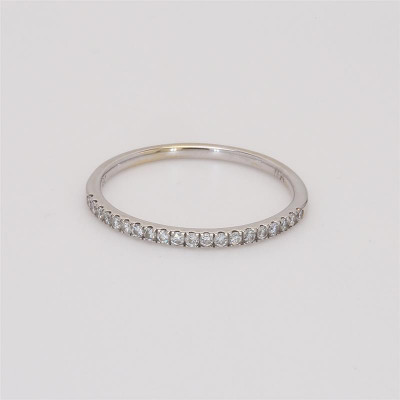 Ladies' Diamond Half-Way Band 0.11tw  14K White Gold
