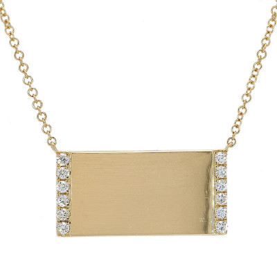 LA Hip, Ladies' Diamond Fashion Necklace 0.15tw  14K Yellow Gold
