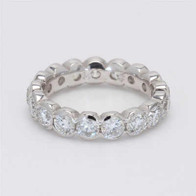 Ladies' Diamond Eternity Band 3.20tw  14K White Gold