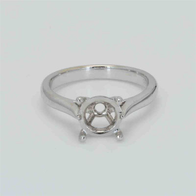 Ladies' Engagement Ring Setting 18K White Gold