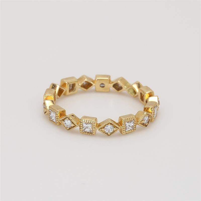 Ladies' Diamond Eternity Band 0.38tw  18K Yellow Gold