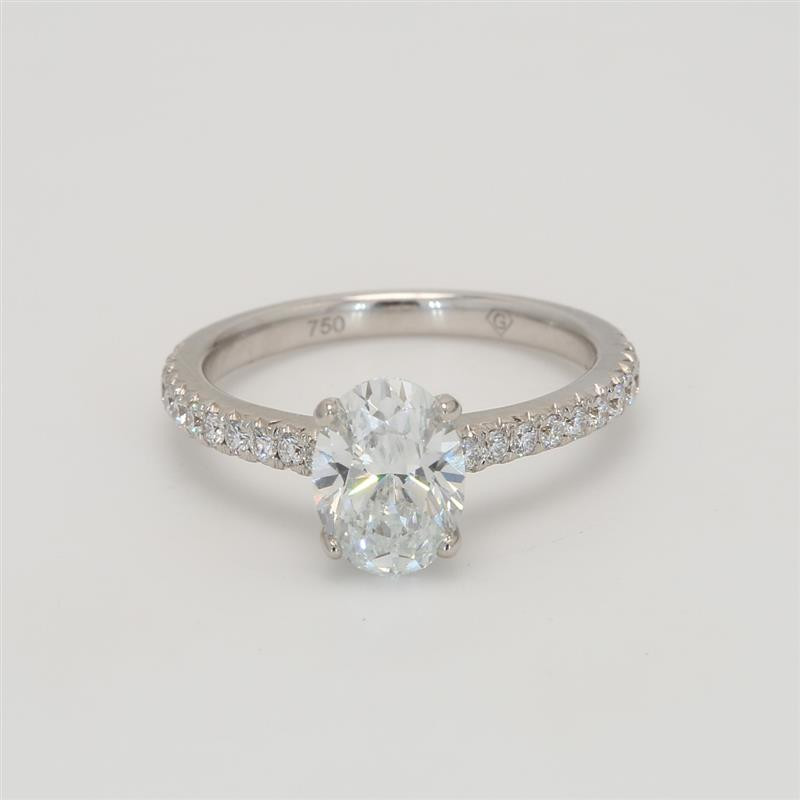 Delicate Collection, Ladies' Preset Engagement Ring Solitaire 1.91tw  18K White Gold