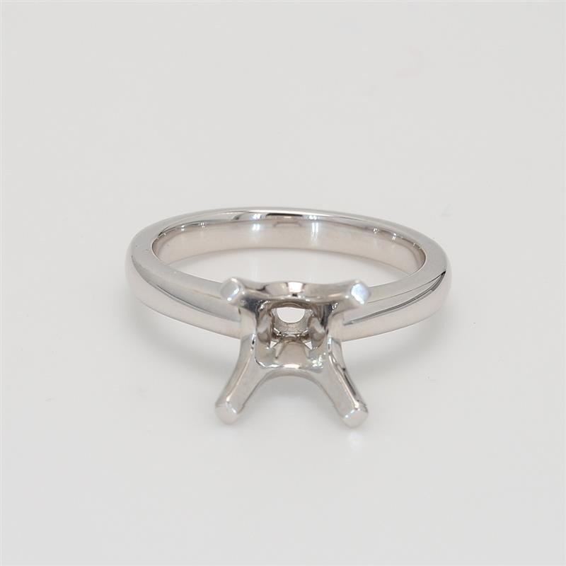 Ladies' Classic Solitaire Setting 18K White Gold