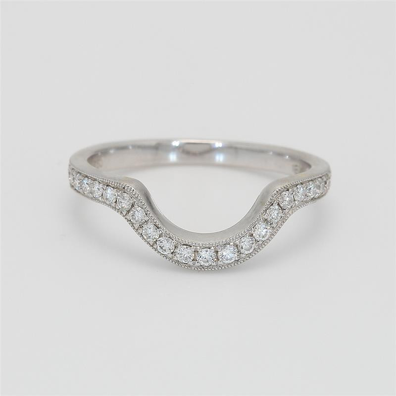 Ladies' Diamond Three-Quarter Way Band 0.31tw  18K White Gold