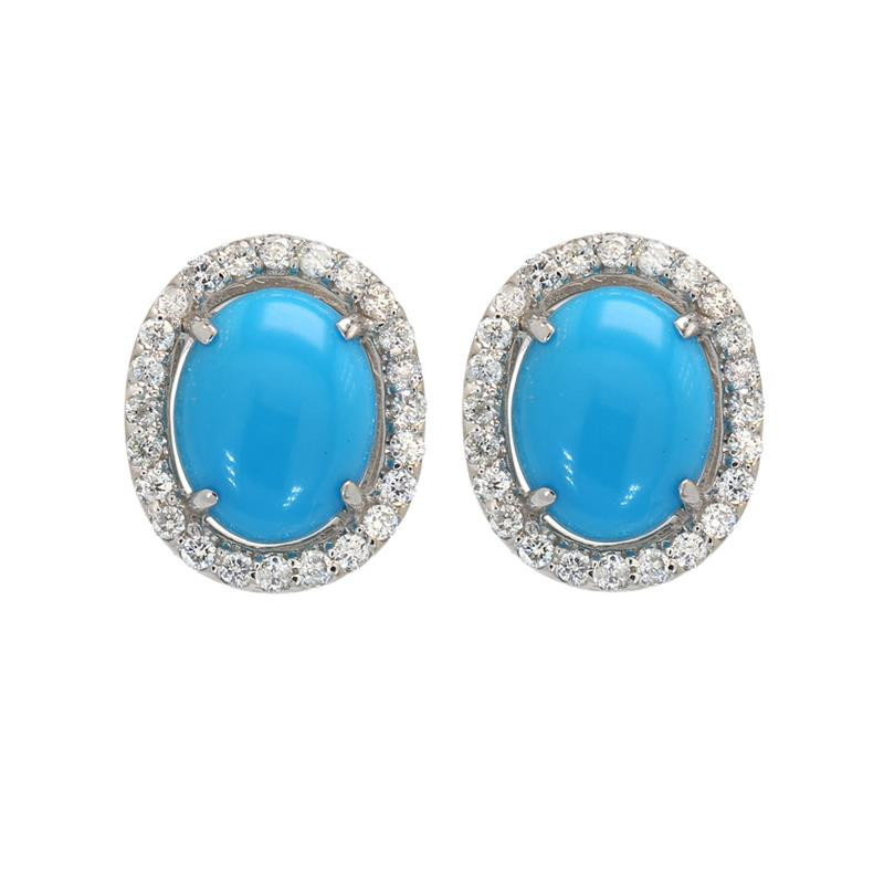 Ladies' Gemstone Fashion Earrings 3.16tw  18K White Gold
