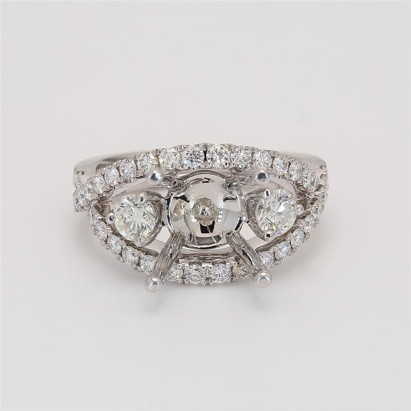 Oliva Collection, Ladies' Engagement Ring Setting 1.15tw  18K White Gold