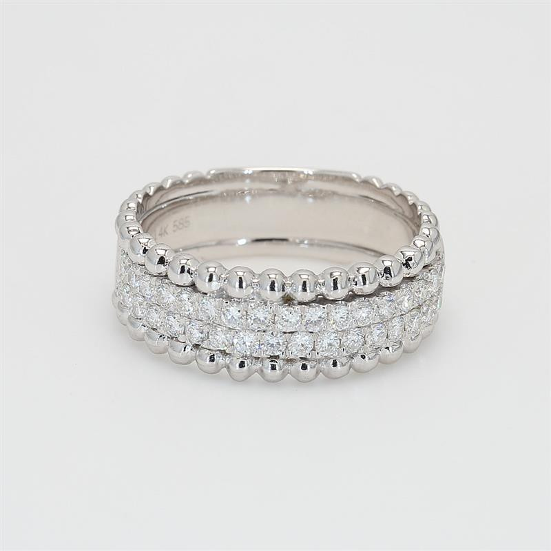 Ladies' Diamond Half-Way Band 0.55tw  14K White Gold