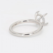 Oliva Collection, Ladies' Engagement Ring Setting 18K White Gold