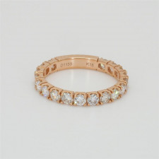 Ladies' Diamond Three-Quarter Way Band 1.15tw  18K Rose Gold