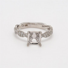 Ladies' Engagement Ring Setting 0.48tw  18K White Gold