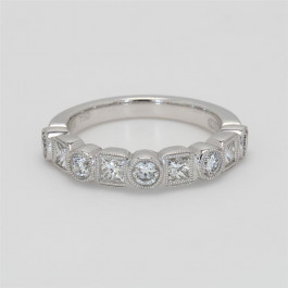 Ladies' Diamond Half-Way Band 0.99tw  18K White Gold