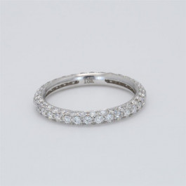 Ladies' Diamond Eternity Band 1.31tw  18K White Gold